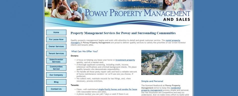 Poway California property management company website